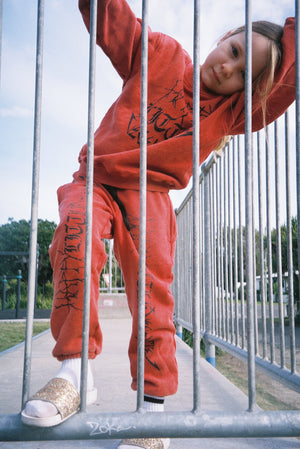 HAPPY SWEATPANT / WASHED RED PREORDER