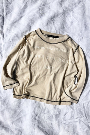 INSIDE OUT L/S TEE / TAN