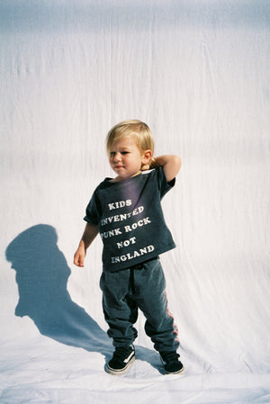KIDS TEE / WASHED BLACK