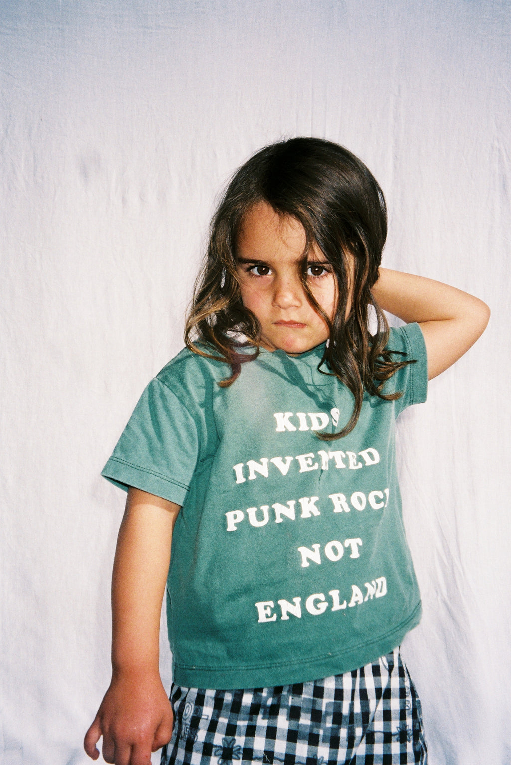 KIDS TEE / WASHED FOREST GREEN