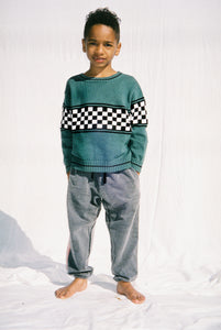 CHECK MATE KNIT / GREEN
