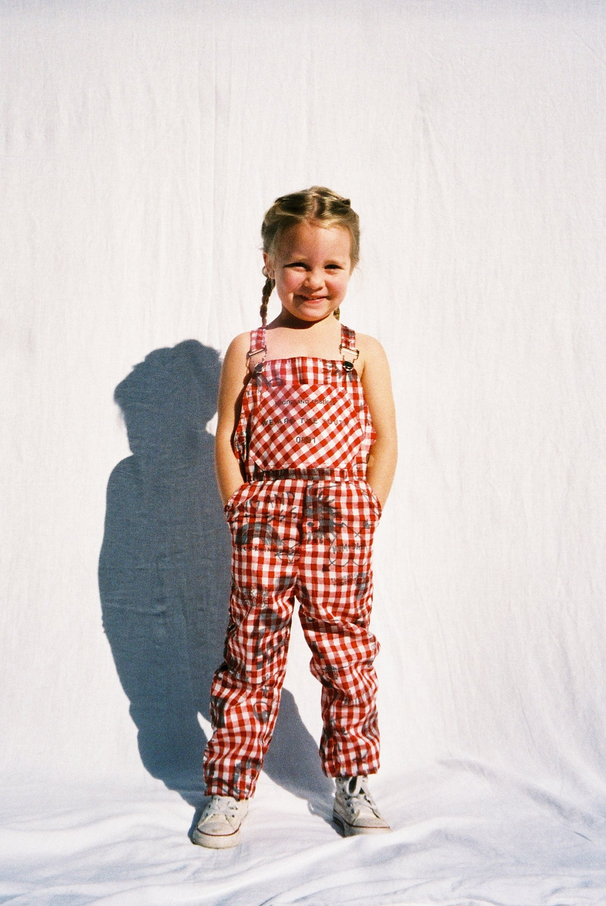 ART ATTACK DUNGAREES / RED