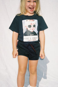 YOUTH SHORT SHORTS / WASHED BLACK