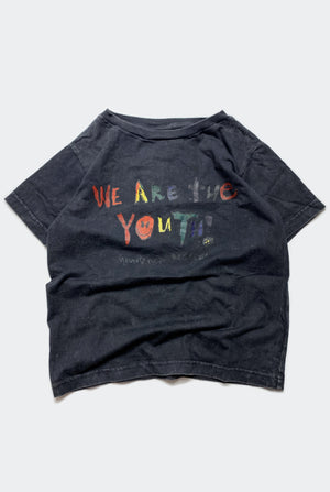 WE ARE THE YOUTH TEE / WASHED BLACK