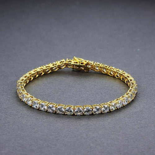 3MM 14K Gold Single Row Tennis Bracelet