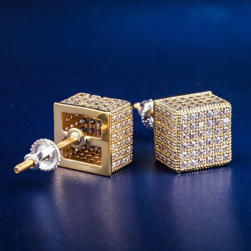 14K Gold Iced Cubic Earrings