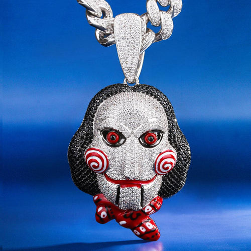 (presale) Multicolored Iced 69 Jigsaw Killer Pendant Necklace