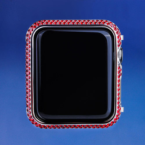Red Iced Out iWatch Cover for iWatch for Series 3/2/1