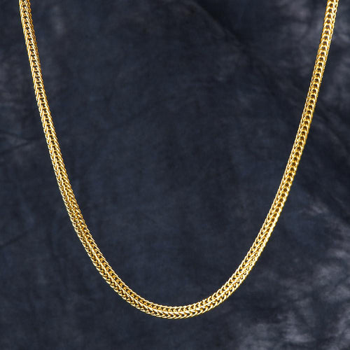 3mm 14k Gold Franco Chain