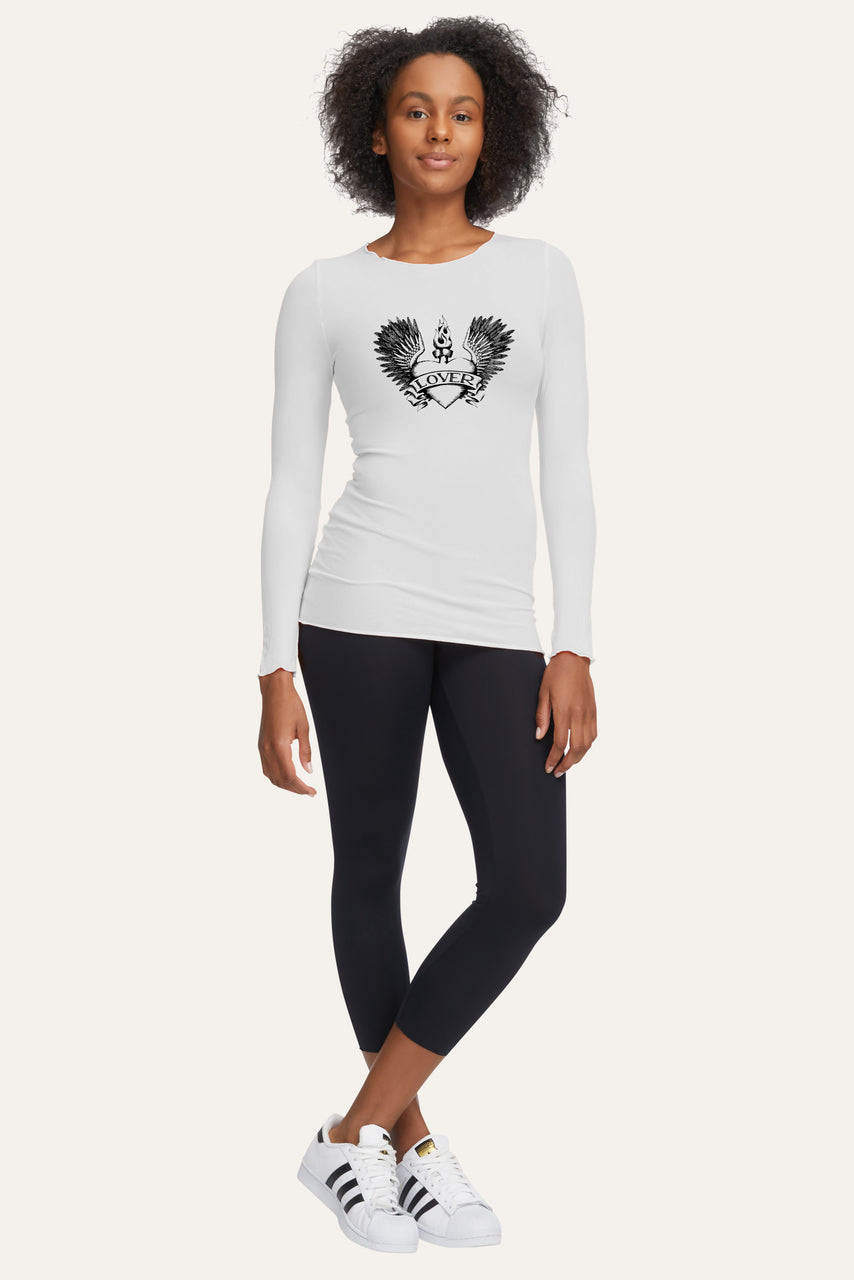 Lover Wings Tattoo Basic Long Sleeve