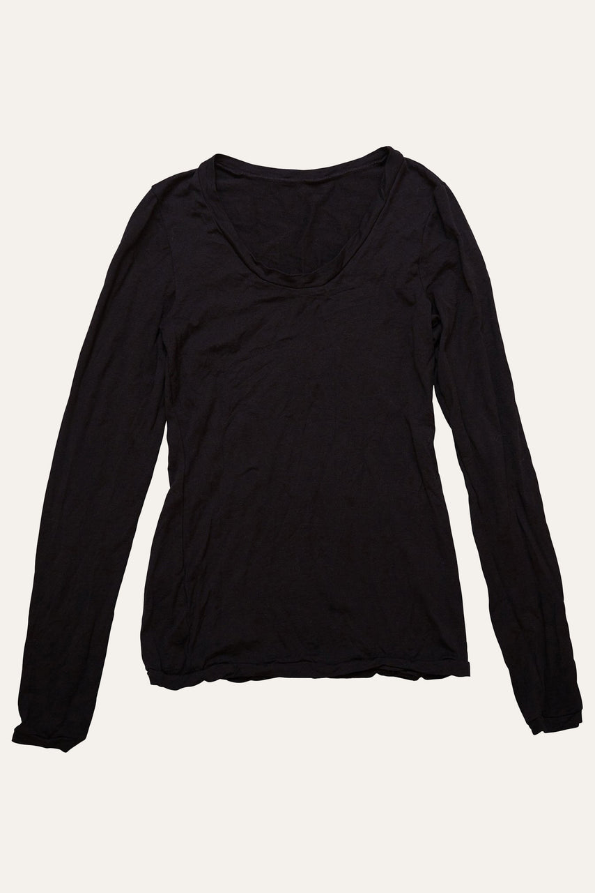 Scoop Neck Long Sleeve with Band