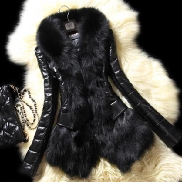 Stylish Winter Warm Faux Fox Fur Coat