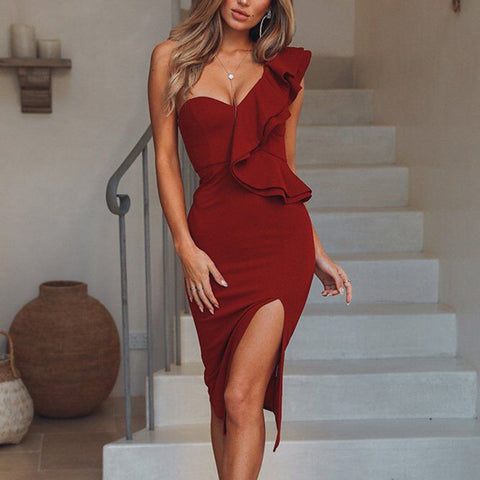 2019 CEA Women's Fashion Plain Sleeveless Bodycon Dress
