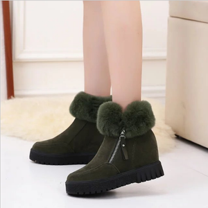 Winter Round Toe Side Zipper Warm Snow Boots