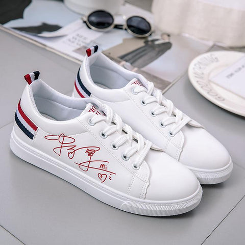 College Style Plain Lace-Up Round Toe Casuals