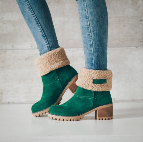 2019 CEA Women's Winter Thickened And Thick-Bottomed Lamb Wool Boots