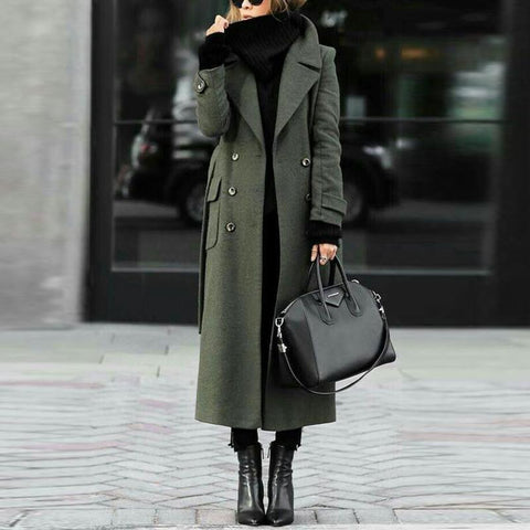 2019 CEA Women's Classic Turn-Down Collar Elegant Trench Long Coat