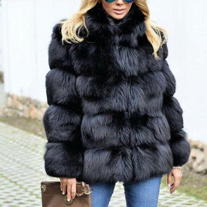 Ecogora Women's Faux Fur Long Sleeve Fashion Winter Coats