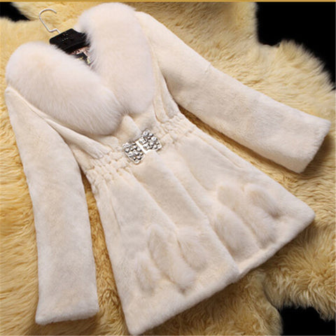 Medium And Long Style Warm Fur Coat