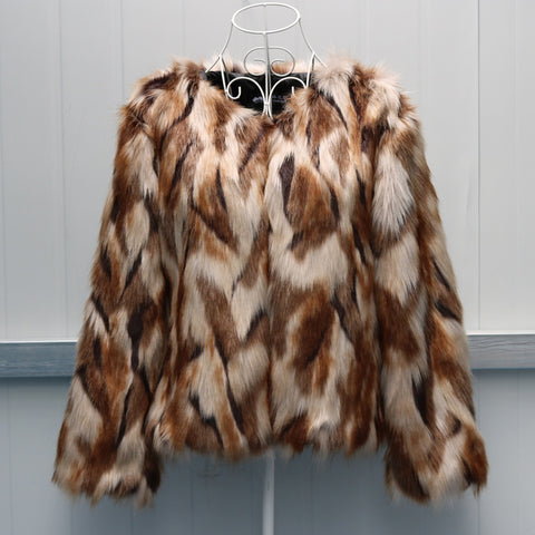 New Women's Faux Fur Short Coat