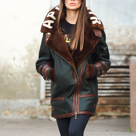Fashion colorblock zipper ladies jacket