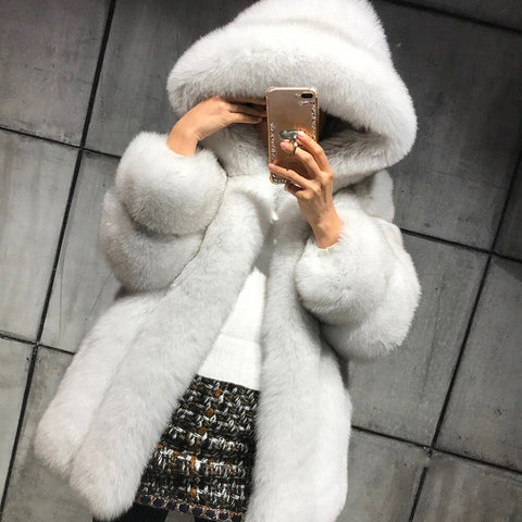 Women's fashion windproof warm fur