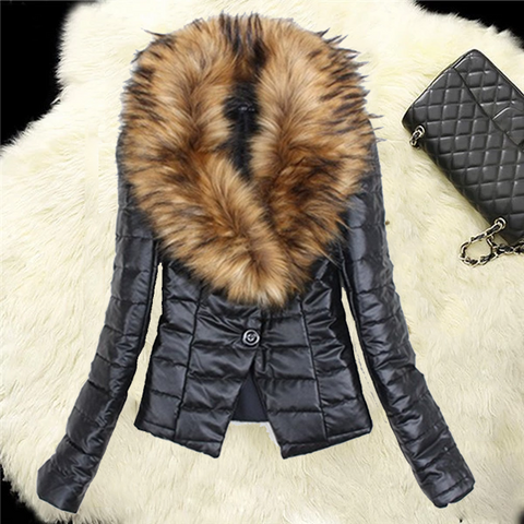 2019 CEA Women's Fashion and thicken the fox fur cotton-padded jacket
