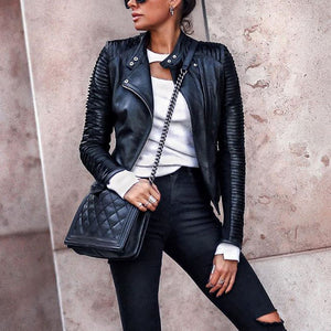 Stylish Black Long Sleeve Zipper Jacket