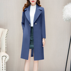 Women's fashion slim single-breasted long coat