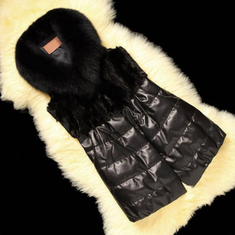 Autumn And Winter Womens Artificial Fox Fur Coat
