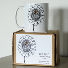 Load image into Gallery viewer, Bee Kind ceramic mug