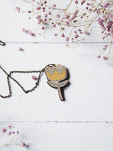 Load image into Gallery viewer, Yellow Flower | wooden pendant
