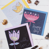 with love floral greeting card