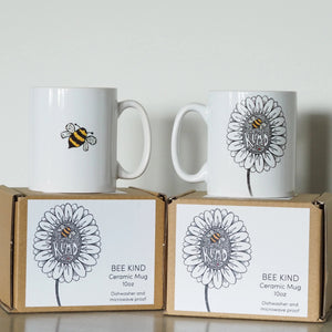 Bee Kind ceramic mug