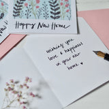 Happy New Home Flower Garden card | handmade greeting cards | stationery | snail mail