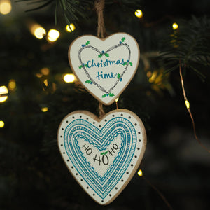 CHRISTMAS TIME | HO HO HO | twin heart | Christmas decoration | festive decor