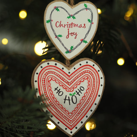 CHRISTMAS JOY | HO HO HO | twin heart | Christmas decoration | festive decor