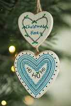 Load image into Gallery viewer, CHRISTMAS TIME | HO HO HO | twin heart | Christmas decoration | festive decor