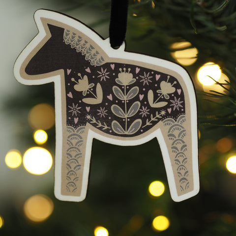 Dala Horse Christmas Decoration
