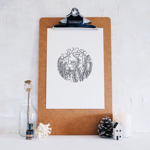 seedhead garden | original ink artwork