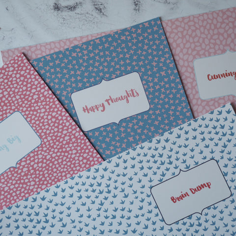 A6 Notebook samples & seconds -  various designs with 120gsm paper inserts