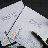 sprigs | notecards | set of 5 | stationery | illustration | unique design