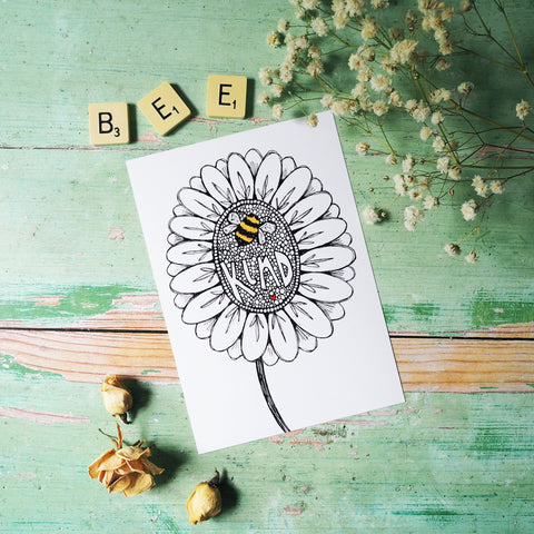 bee kind | A4 or A5 art prints | illustration | drawing | sketch | gift