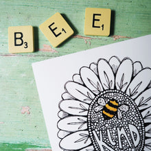 Load image into Gallery viewer, BEE KIND A5 art print