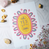oh yes you can A4 art print