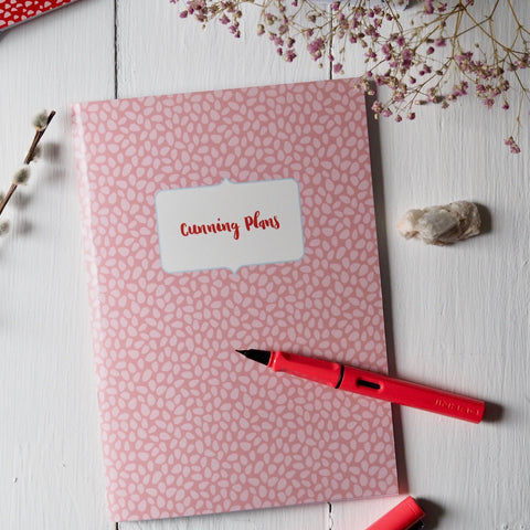cunning plans | A5 | notebooks | sketchbooks | journals | handmade | stationery