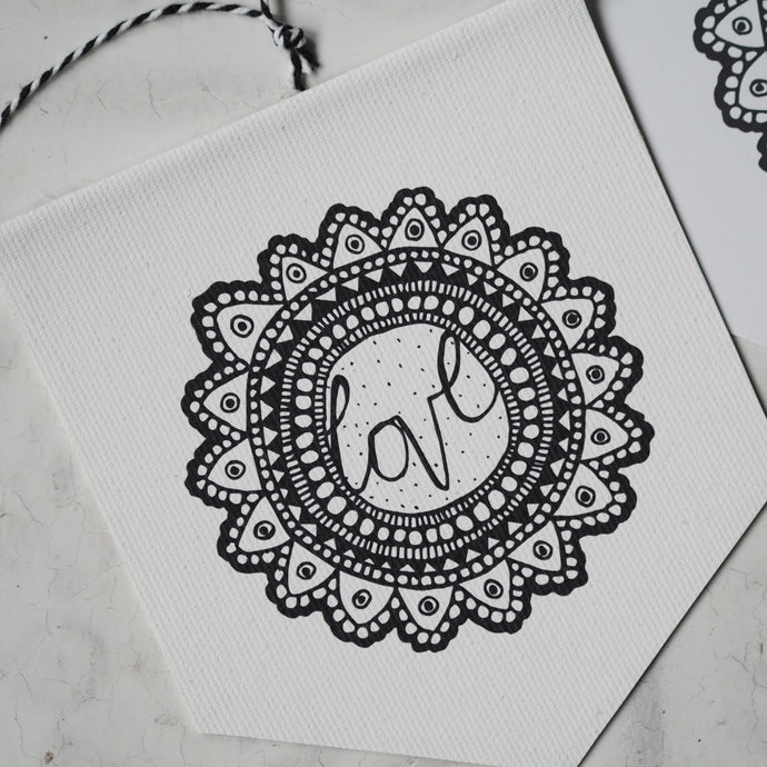 Love Flower - Mini Pennant and Card Set