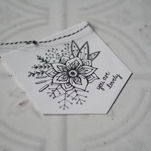 Load image into Gallery viewer, You are lovely - Floral Design Mini Pennant and Card Set