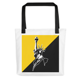 Voluntaryist/AnCap Flag and Classical Statue Logo Tote bag
