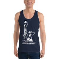 California LP Classical Statue Hat Logo Tank Top